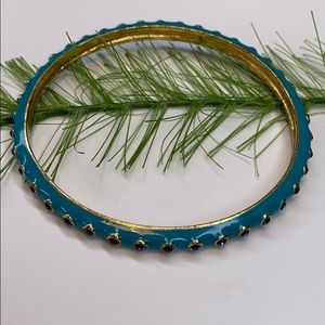 J Crew jewelry, Blue rhinestone bangle